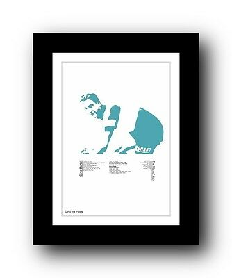 Gino Bartali #3 ❤ Cycling typography poster art limited edition print vintage