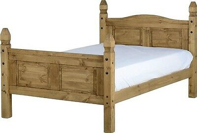 Corona Mexican Waxed Pine 4' Queen Size Bed