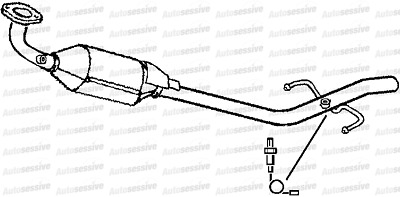 Toyota Yaris 1.0 1Szfe Scp10 Hatchback 99-01 Exhaust Catalytic Converter