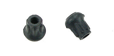 """2 Pack Steel Reinforced  1/4"""" Rubber Tips- Cane, Crutch or Chair CTR-250-B"""
