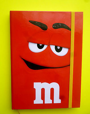 NEU M&M'S NOTIZBLOCK Rot 13 x 18 cm gross