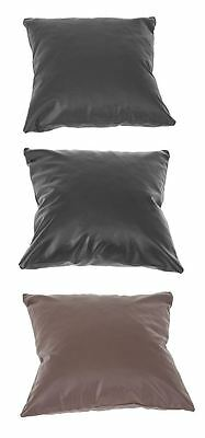 "Plain Faux Leather Cushion Cover Pillow Case 16"" x 16"", 40cm x 40cm in 2 Colours"