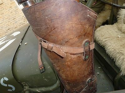 "US Leather Scabbard Utility Strap EQUIPMENT  22"" long width 0,71"" Willys MB GPW"