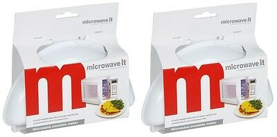 2 x Microwave It - Plastic Microwave Omelette Maker