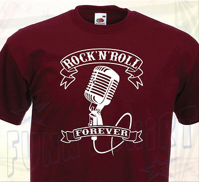 T-SHIRT ROCK'N'ROLL Forever - Années 50 Elvis Presley Chuck Berry Grease Rockers