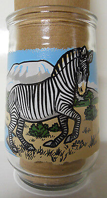 1995 Welch's Endangered Species Collection Jelly Jar Glass #3-Grevy's Zebra
