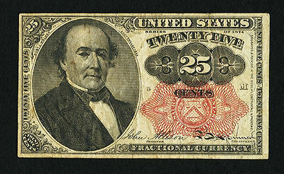 1874 25 Cent- FR.1308- Fractional US Currency Note 5th Issue- Very Fine.