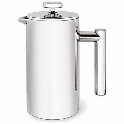 Tramontina Double Wall Stainless Steel 6 Cup Coffee Plunger 690ml 20cm (H)