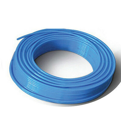 New Polyurethane Tube PU Pneumatic Air Hose 6 mm X 4 mm - 10 Meter Color: Blue