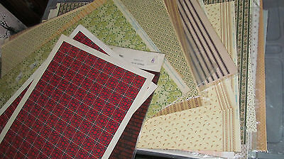 1980s Dollhouse Miniature 1:12 Scale Wallpaper 50+ Variations Your Choice - NEW