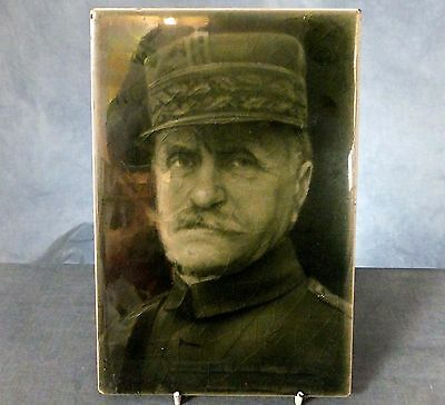 RARE LARGE WWI. TILE PLAQUE by J.H. BARRATT & Co. - GENERAL FOCH