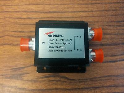 Lot of 26 Andrew S-2-CPUS-L-N Microwave RF Power Splitter Combiner 800-2500 MHz