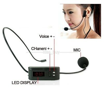 Headset Digital LED FM wireless microphone MIC FM Transmitter 87.0Mhz-108.8Mhz