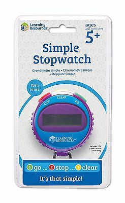 Learning Resources Simple Digital Stopwatch for Kids Teachers Classrooms