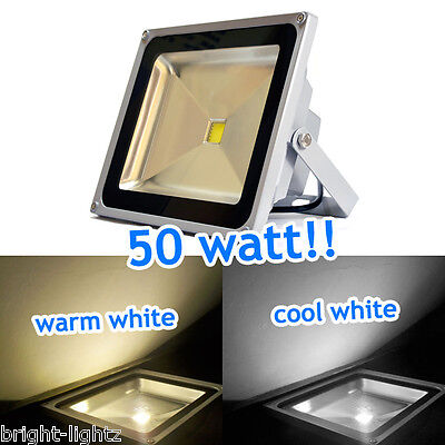 50W / 50 Watt Led Flood Lights Outdoor Security Garden Floodlight Cool / Warm Uk