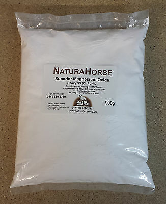 Magnesium Oxide (heavy) 900g 99.9% purity mag ox for horses