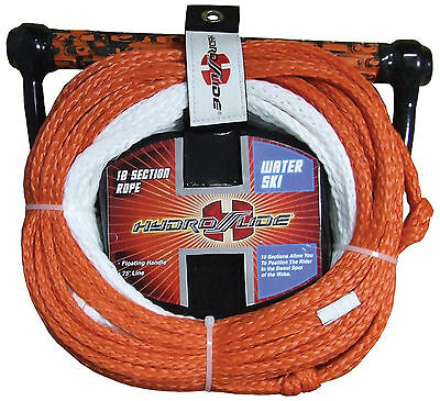 Hydroslide 10 Section 75' Waterski slalom ski rope + rope tidy+ floating handle