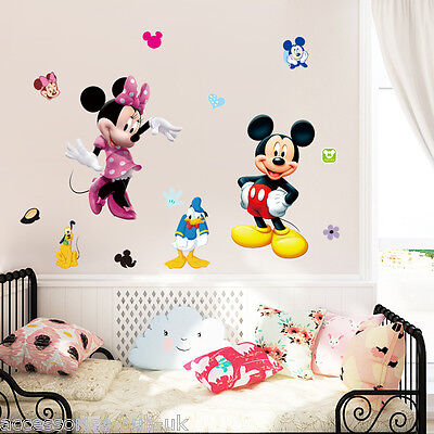 Disney Mickey Mouse Wall Sticker Decal Decore Kids /nursery/ Bed & Play Room .uk