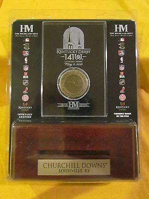 2015 Kentucky Derby Bronze Dirt Coin Etched Acrylic- American Pharoah
