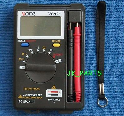 VC921 VICTOR Mini DMM Integrated Handheld Pocket Digital Frequency Multimeter