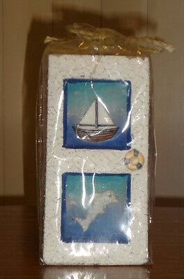 Sailboat and Dolphin Candle – Brand New