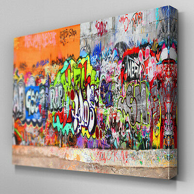 AB102 URBAN STREET Graffiti Canvas Wall Art Ready to Hang Picture ...