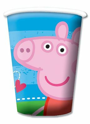 Pack of 8 Blue Peppa Pig Party Cups Kids Birthday Party Tableware Decorations