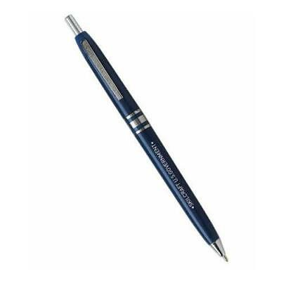 Skilcraft U.S. Government Retractable Ball Point Pen, Fine Point, Blue Ink, Box