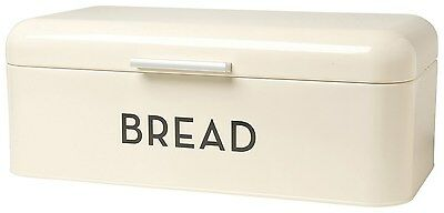 Bread Bin Ivory Kitchen Storage Retro Box Vintage Tin Modern Large Dining House