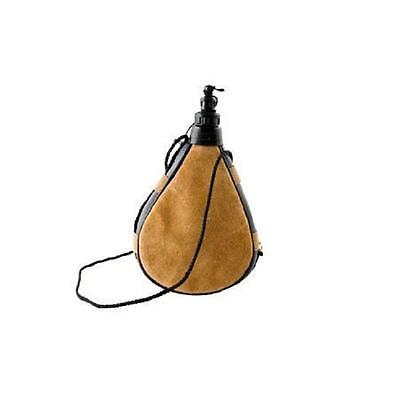 Leather Bota Bag Water Wine Skins Camping Hiking Canteen Drinking Gift 0.5 L