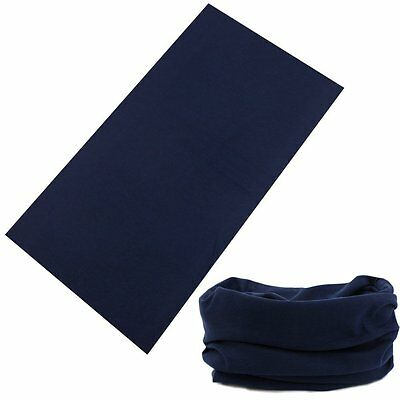 Dark Blue Seamless Tube Neck Warmer Face Mask Headband Bandana Motorcycle Biker