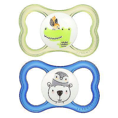 MAM Air Orthodontic Pacifier, Boy, 6+ Months, 2-Count New
