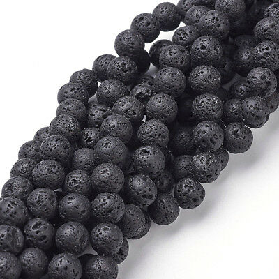 25 Strds Natural Volcanic Lava Rock Beads Bumpy Loose Stone Spacers Jewelry 8mm