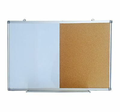 Magnetic Whiteboard & Corkboard 900x600 mm Wall Mounted Combination Board