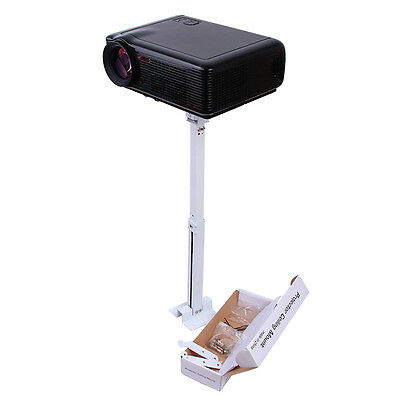 Universal Tilting Extendable LED LCD DLP Ceiling Mount Projector Wall Bracket W/