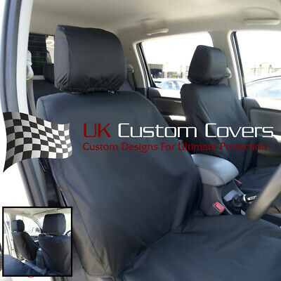 Toyota Hilux 2005 - 2016 Tailored & Waterproof Front Seat Covers - Black 139