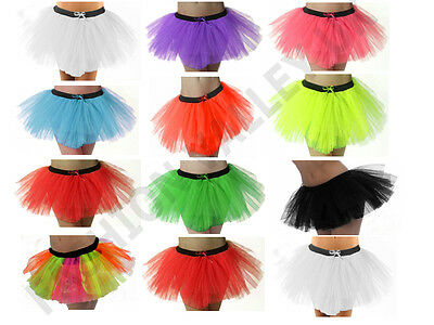 NEON TUTU SKIRT 80's FANCY DRESS COSTUME ACCESSORY HEN NIGHT PARTY SKIRT