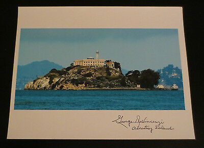 George DeVincenzi Alcatraz Corrections Officer signed autographed photo