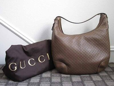 85bd2a1675f Gucci AUTH Nice Microguccissima GG Embossed Tan Leather Hobo Shoulder Bag  NWT