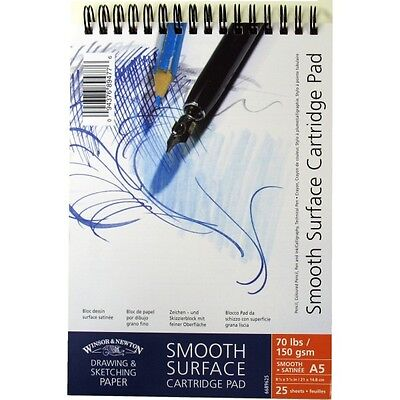 Winsor & Newton Cartridge Pad - Smooth Spiral Bound - 150gsm - A3