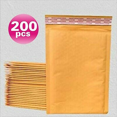 Yens® 200 #0 Kraft Bubble Padded Envelopes Mailers 6.5 X 10 fit DVD CD Case