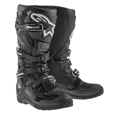 Alpinestars NEW 2017 Mx Tech 7 CE Offroad Dirt Bike Motocross Black Enduro Boots