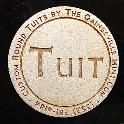 Round Tuit wooden token - Pack of 100 - laser-engraved
