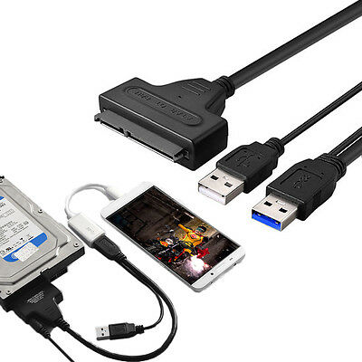 """2.5"""" inch HDD SATA Hard Disk Drive to USB 2.0 Interface Converter Adapter Cable"""