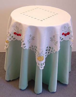 10 Embroidered Tablecloths Pear Cherry Fruit Orchard Kitchen Dining  Cover M180