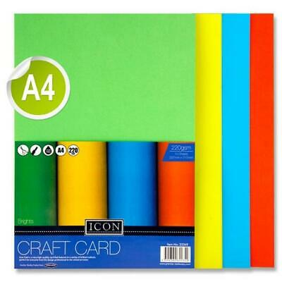 A4 Activity Coloured Card 160gsm/180gsm-(Wide Colour Range) Various Pack Sizes