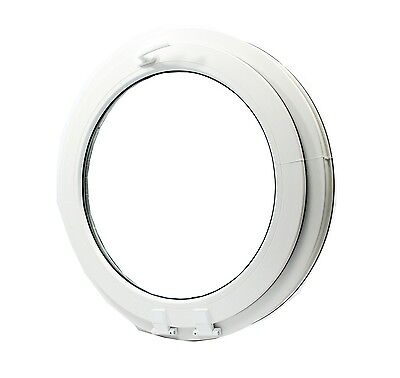 uPVC -Window Round arched circular double glazed VEKA  - handle on top- tilt!