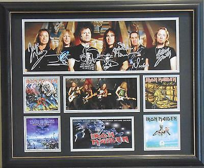 Iron Maiden Signed Limited Edition Framed Memorabilia