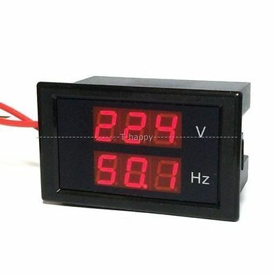 Digital dual display AC voltmeter frequency teste meter LED volt meter 110V 220V