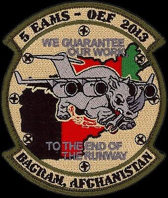 USAF 5th EXPEDITIONARY AIR MOBILITY SQ OPERATION ENDURING FREEDOM ORIGINAL PATCH